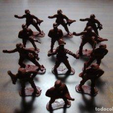 Juguetes Antiguos: 12 SOLDADOS COMANDOS PARA PINTAR DE PLASTICO. Lote 153981030