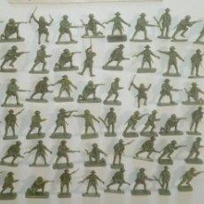 Juguetes Antiguos: AIRFIX ORIGINAL HO-1/72: 56 SOLDADOS GURKHAS DE LA 2ª GUERRA MUNDIAL AÑOS 70. PTOY. Lote 156876642