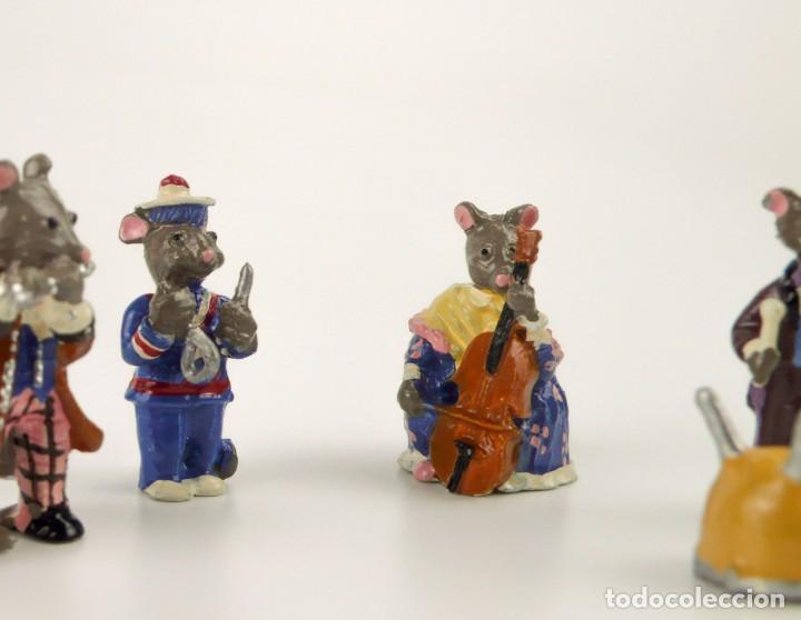 Juguetes Antiguos: Miniaturas de plomo - Ratones ratoncitos banda de música - Foto 3 - 163580186