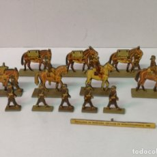 Juguetes Antiguos: ARTILLERÍA DE MONTAÑA, ESCALON DE MUNICIONAMENTO 1939, 12 FIGURAS. Lote 165846482