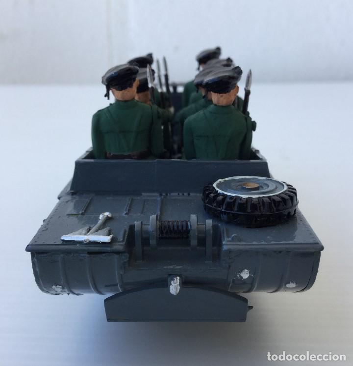Juguetes Antiguos: Vehículo militar camión anfibio años 40 + 9 soldaditos - Foto 6 - 166271774