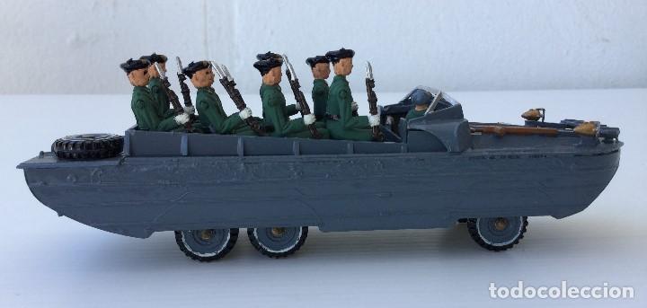Juguetes Antiguos: Vehículo militar camión anfibio años 40 + 9 soldaditos - Foto 8 - 166271774