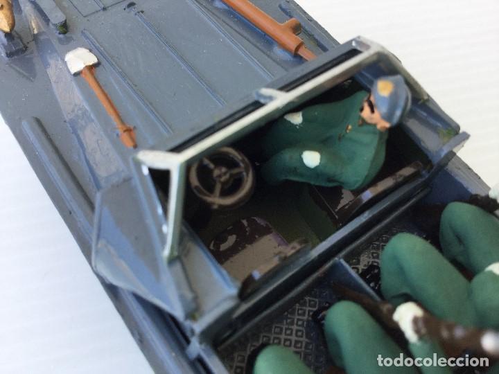 Juguetes Antiguos: Vehículo militar camión anfibio años 40 + 9 soldaditos - Foto 11 - 166271774