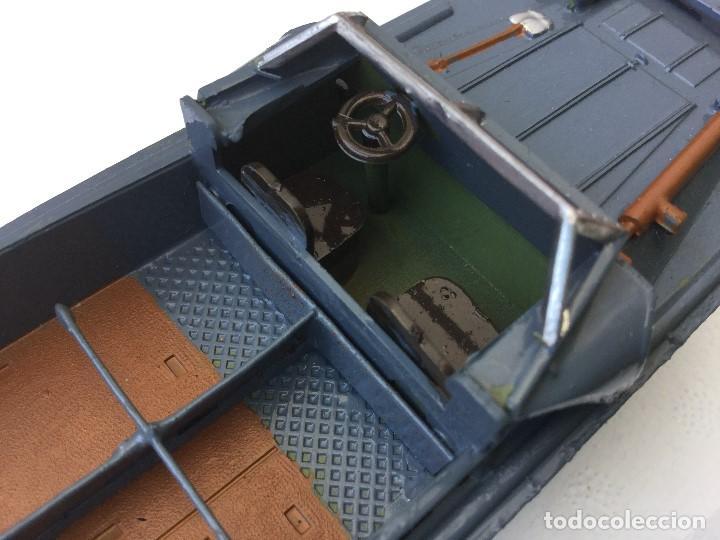 Juguetes Antiguos: Vehículo militar camión anfibio años 40 + 9 soldaditos - Foto 14 - 166271774