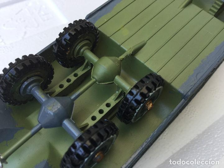 Juguetes Antiguos: Vehículo militar camión anfibio años 40 + 9 soldaditos - Foto 15 - 166271774