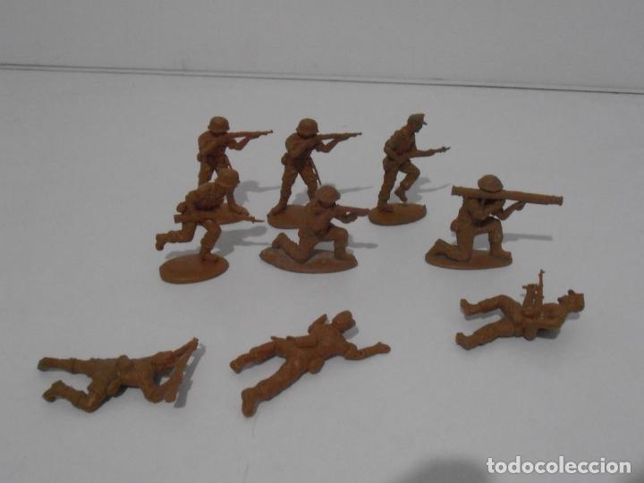 Juguetes Antiguos: LOTE 9 SOLDADITOS PLASTICO, 5 CM, B9, SOLDADOS - Foto 6 - 166308682