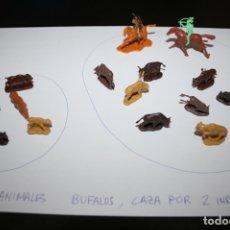 Juguetes Antiguos: FIGURAS 1/72 ANIMALES OESTE INDIOS BISONTES BÚFALOS ELEFANTE - ATLANTIC - REVELL AIRFIX MONTAPLEX. Lote 166721038