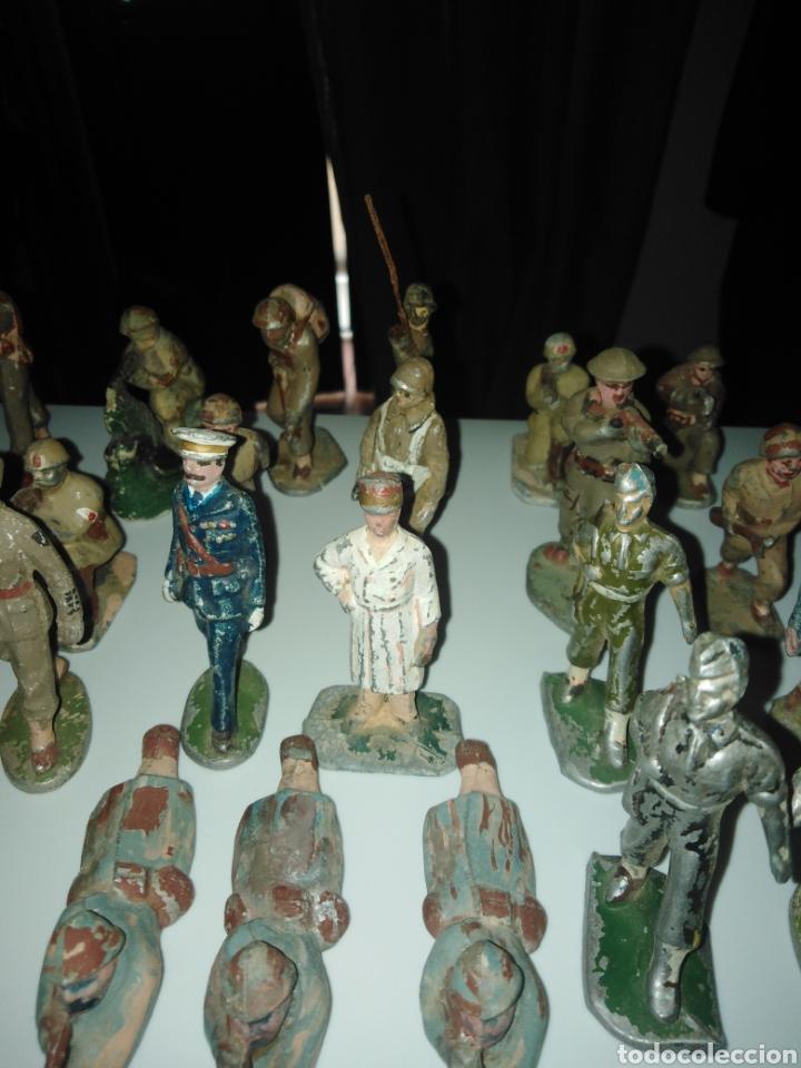 Juguetes Antiguos: Lote soldados años 40. - Foto 4 - 167544934