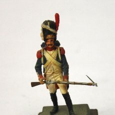 Juguetes Antiguos: SOLDADO WATERLOO 18-VI-1815. FRENCH GRENADIER OF IMPERIAL GUARD. EN PLASTICO SOBRE PEANA DE MADERA. Lote 171416713
