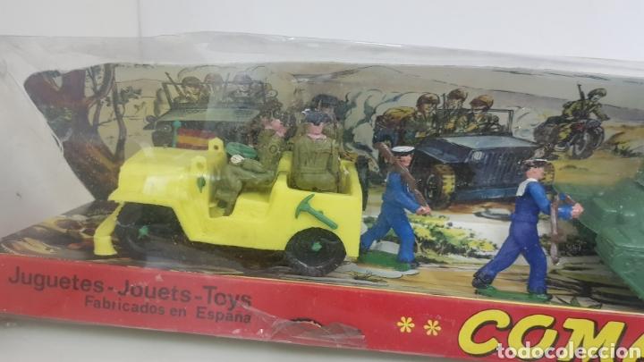 Juguetes Antiguos: Comandos en acción juguetes fabricados en España de plástico torres maltas medida de la caja 56x9cms - Foto 2 - 178009275
