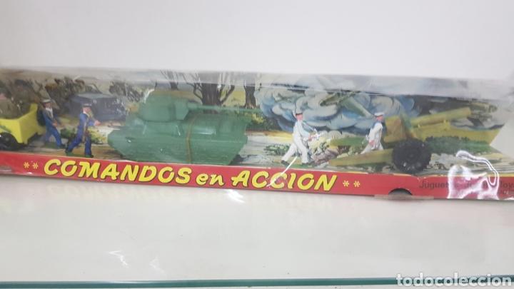 Juguetes Antiguos: Comandos en acción juguetes fabricados en España de plástico torres maltas medida de la caja 56x9cms - Foto 3 - 178009275