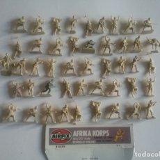 Juguetes Antiguos: AIRFIX ORIGINAL HO-1/72: 46 SOLDADOS AFRIKA KORPS DE LA WWII. AFRICA CORPS REF. 01711 AÑOS 70.PTOY. Lote 179520390