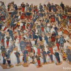 Juguetes Antiguos: VINTAGE - MUY ANTIGUO - SUPER LOTE DE SOLDADOS DE CARTÓN, SOBRE 150 UNIDADES ¡MIRA FOTOS Y DETALLES!. Lote 180418003