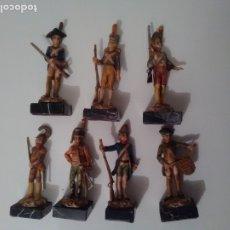 Juguetes Antiguos: SOLDADOS DE RESINA 9 CM - 7 FIGURAS. Lote 182741188