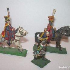 Juguetes Antiguos: MINUSCULOS SOLDADITOS DE PLOMO..PERFECTAMENTE DECORADOS.. Lote 186731123