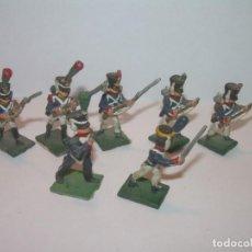 Juguetes Antiguos: MINUSCULOS SOLDADITOS DE PLOMO..PERFECTAMENTE DECORADOS.. Lote 186733218