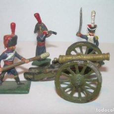 Juguetes Antiguos: MINUSCULOS SOLDADITOS DE PLOMO..PERFECTAMENTE DECORADOS.. Lote 186734783