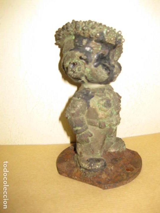 Juguetes Antiguos: curiosa figura de soldado niño . molde hierro fundido para muñeca 13/5cm- años 20-30 ? - Foto 2 - 189445703