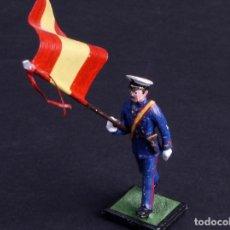 Juguetes Antiguos: SOLDADO DE METAL ABANDERADO . Lote 194670925
