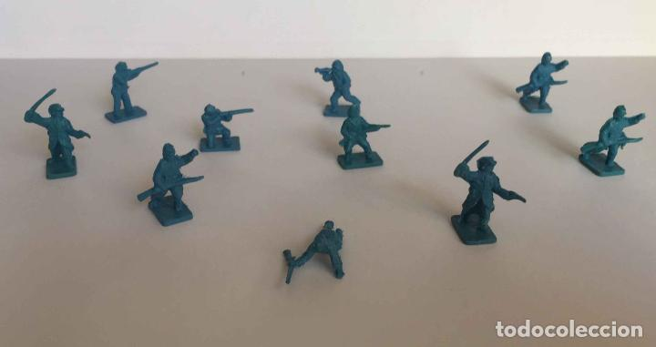 Juguetes Antiguos: Lote 10 SOLDADITOS (Guerra Civil Norteamericana) 70's ¡Originales! - Foto 4 - 149703730
