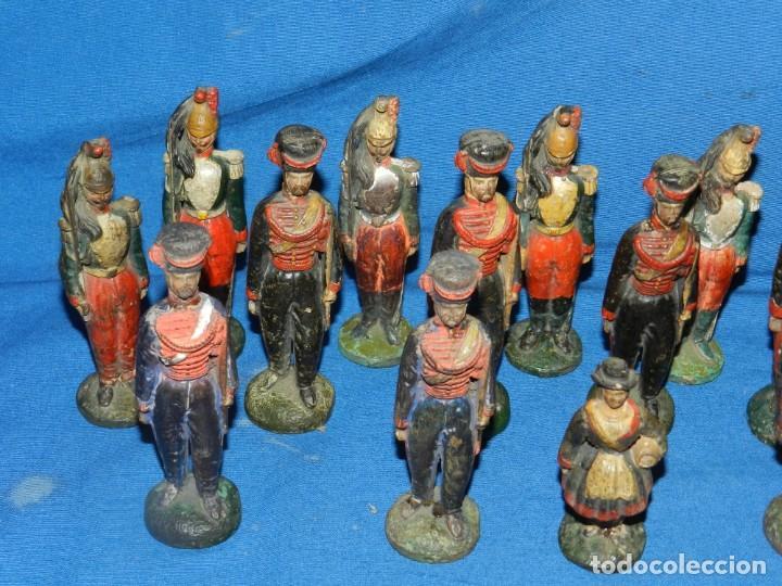 Juguetes Antiguos: (M) LOTE DE 20 SOLDADOS ANTIGUOS DE TERRACOTA MARCA DUMERIL H LEURS A ST OMER - Foto 5 - 195171590
