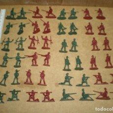 Juguetes Antiguos: LOTE 48 SOLDADOS 3,5 CM - DE 12 MODELOS 4 DE CADA 2 VERDES 2 ROJAS MAS FOTOS, . Lote 195243745