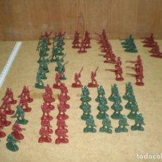 Juguetes Antiguos: LOTE 74 SOLDADOS 3,5 CM - DE 10 MODELOS VERDES Y ROJOS, MUCHOS DESFILE GUARDIA PARADA MAS FOTOS, . Lote 195244202