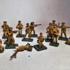 Juguetes Antiguos: AIRFIX ESCALA 1/76. 16 SOLDADOS BRITISH INFANTRY D-DAY OPERATION OVERLORD. PINTADOS A MANO.. Lote 195254332