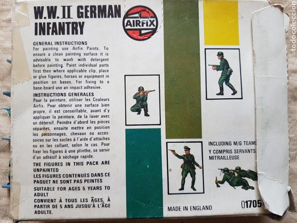 Juguetes Antiguos: Caja de soldados alemanes infanteria 2 guerra mundial Airfix UK - Foto 2 - 199278516