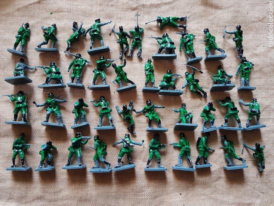 Juguetes Antiguos: Caja de soldados alemanes infanteria 2 guerra mundial Airfix UK - Foto 3 - 199278516