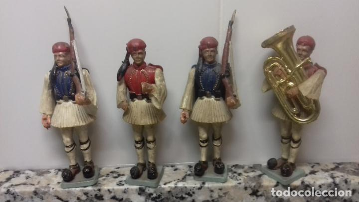 LOTE 4 SOLDADOS GRIEGOS (Juguetes - Soldaditos - Otros soldaditos)