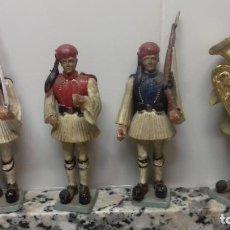 Juguetes Antiguos: LOTE 4 SOLDADOS GRIEGOS. Lote 204487677