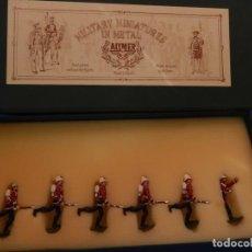 Juguetes Antiguos: SOLDADOS. ALYMER. FABRICADOS EN ESPAÑA. BRITISH 24 TH FOOT REGT. EN SU CAJA.. Lote 204802653