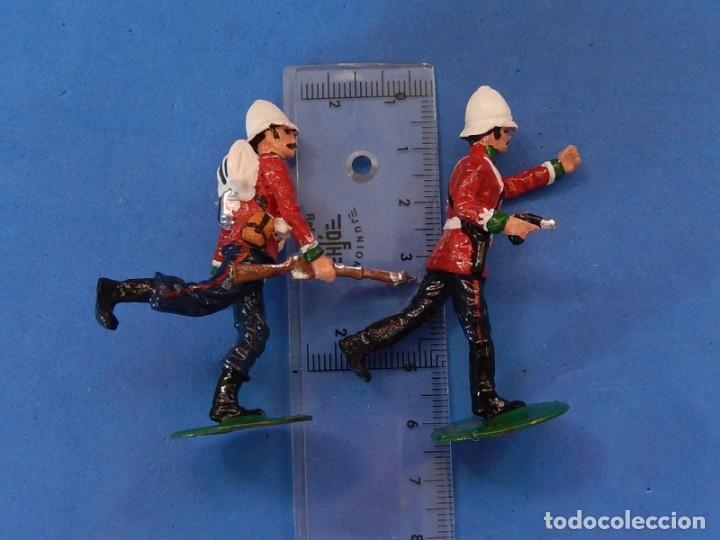 Juguetes Antiguos: Soldados. Alymer. Fabricados en España. British 24 th Foot Regt. En su caja. - Foto 17 - 204802653