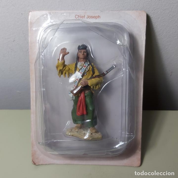 FIGURA EN METAL SOLDADO INDIO AMERICANO CHIEF JOSEPH. (Juguetes - Soldaditos - Otros soldaditos)