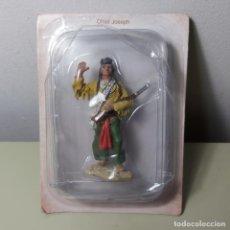 Juguetes Antiguos: FIGURA EN METAL SOLDADO INDIO AMERICANO CHIEF JOSEPH.. Lote 205858163