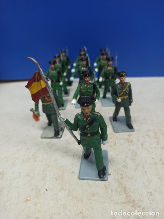 LOTE 13 SOLDADITOS SERIE COMPLETA DESFILE GUARDIA CIVIL SOLDIS (Juguetes - Soldaditos - Otros soldaditos)