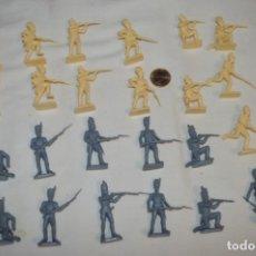 Juguetes Antiguos: VINTAGE, ANTIGUOS / ORIGINAL - LOTE 24 SOLDADOS VARIADOS, ESCALA 1/32 1:32 O SIMILAR ¡MIRA!. Lote 210134500