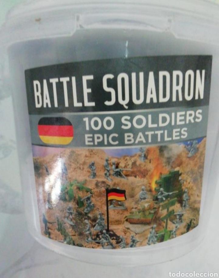 Juguetes Antiguos: Soldaditos de guerra miniatura lote de 97 soldaditos - Foto 3 - 210252675