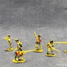Juguetes Antiguos: 6 SOLDADOS NAPOLEONICOS PINTADOS PLASTICO 2CMS MAX. Lote 220914613