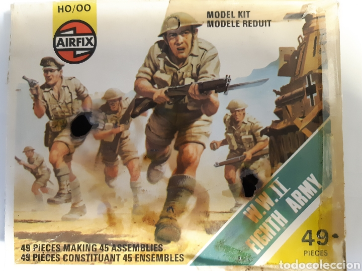 41 SOLDADOS AIRFIX EIGHT ARMY (BRITANICOS) ESCALA 1/72 (Juguetes - Soldaditos - Otros soldaditos)