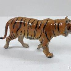 Juguetes Antiguos: TIGRE . REALIZADO EN FRANCIA . MATERIAL METALICO . ALTURA 4 CM. Lote 225850515