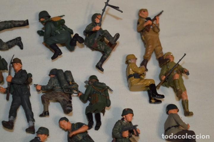 Juguetes Antiguos: Antiguo - Sobre 120 soldados / Diferentes Ejércitos - 2ª Guerra M. - Sobre 5 Cm. de altura - ¡Mira! - Foto 7 - 226344593