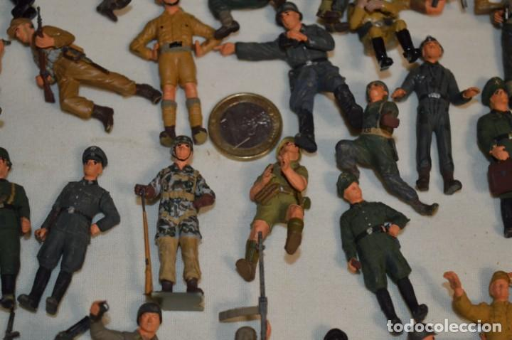 Juguetes Antiguos: Antiguo - Sobre 120 soldados / Diferentes Ejércitos - 2ª Guerra M. - Sobre 5 Cm. de altura - ¡Mira! - Foto 10 - 226344593