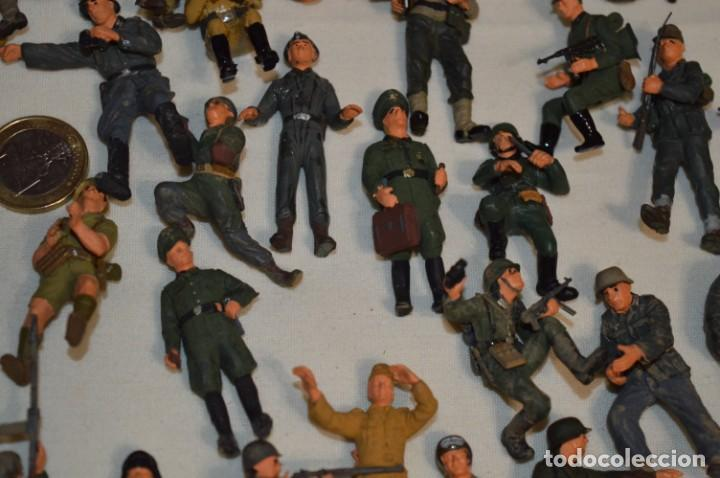 Juguetes Antiguos: Antiguo - Sobre 120 soldados / Diferentes Ejércitos - 2ª Guerra M. - Sobre 5 Cm. de altura - ¡Mira! - Foto 11 - 226344593