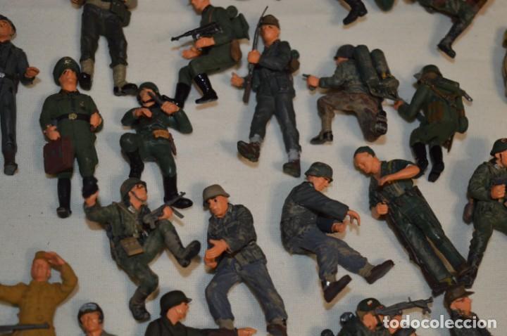 Juguetes Antiguos: Antiguo - Sobre 120 soldados / Diferentes Ejércitos - 2ª Guerra M. - Sobre 5 Cm. de altura - ¡Mira! - Foto 12 - 226344593