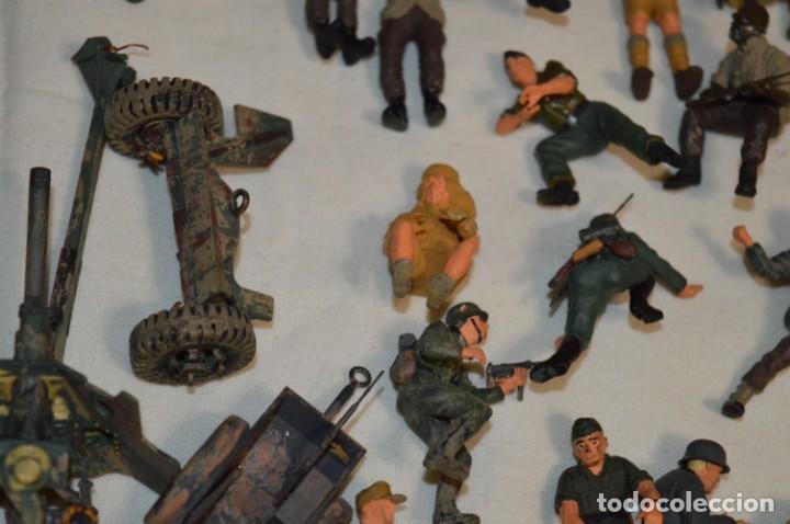 Juguetes Antiguos: Antiguo - Sobre 120 soldados / Diferentes Ejércitos - 2ª Guerra M. - Sobre 5 Cm. de altura - ¡Mira! - Foto 14 - 226344593