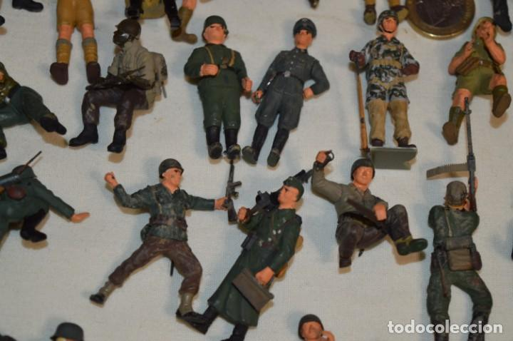 Juguetes Antiguos: Antiguo - Sobre 120 soldados / Diferentes Ejércitos - 2ª Guerra M. - Sobre 5 Cm. de altura - ¡Mira! - Foto 15 - 226344593