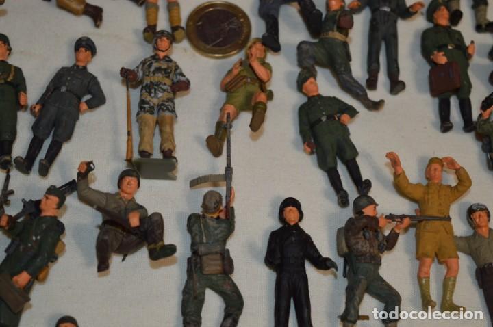 Juguetes Antiguos: Antiguo - Sobre 120 soldados / Diferentes Ejércitos - 2ª Guerra M. - Sobre 5 Cm. de altura - ¡Mira! - Foto 16 - 226344593