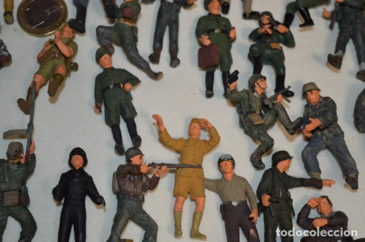 Juguetes Antiguos: Antiguo - Sobre 120 soldados / Diferentes Ejércitos - 2ª Guerra M. - Sobre 5 Cm. de altura - ¡Mira! - Foto 17 - 226344593